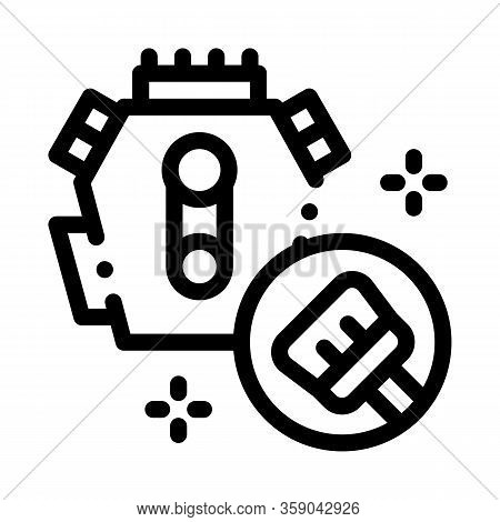 Internal Cleaning Icon Vector. Internal Cleaning Sign. Isolated Contour Symbol Illustration