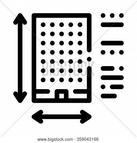 Determination Of Area Construction Icon Vector. Determination Of Area Construction Sign. Isolated Co