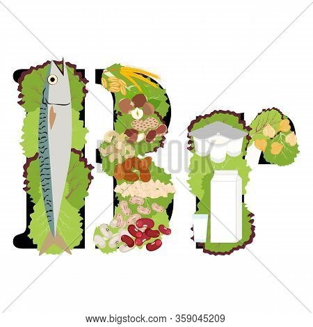 Bromine Br Mineral Healthy Organic Nutrition Vector Illustration