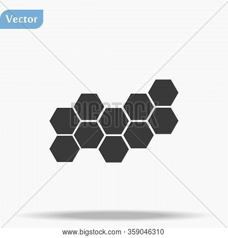 Honeycomb Vector Icon. Honeycomb Icon For Bees. Honeycomb Products Icon. Honeycomb Icon.