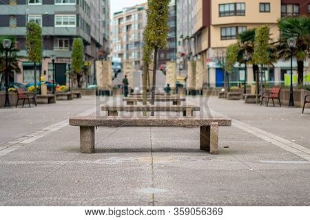 Urban And Horizontal Photography Of The City Of La Coruña, Where We See Its Order Established With T