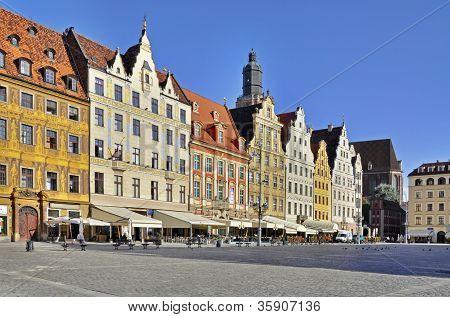 Rynek (market Square) In Wroclaw, Poland