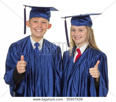 Thumbs Up Child Graduate