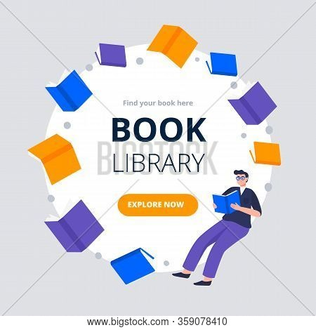 Modern Flat And Simple Design Banners And Ad Template For A Book Festival, Reading Club, World Book
