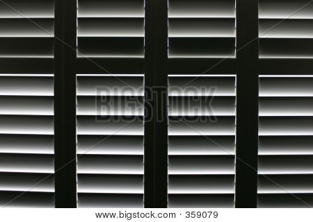 Plantation Blinds Partially Closed