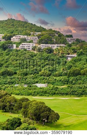 A Golf Course On The Caribbean Island Of St Thomas