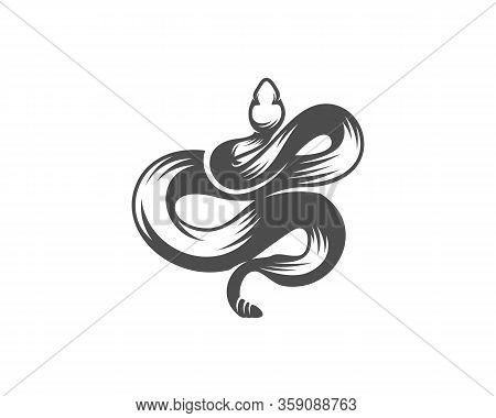 Viper Snake Logo Design Vector, Animal Graphic, Snake Design Template Illustration