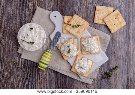 Traditional Soft Cheese With Thyme