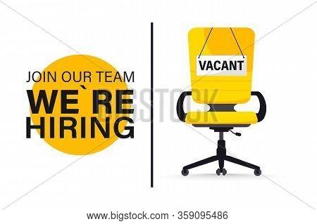 Recruiting Or Hiring, Open Vacancy. Business Hiring And Recruiting Concept. We Are Hiring. Vacant Po