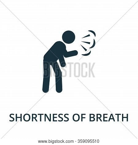 Shortness Of Breath Icon. Simple Illustration From Coronavirus Collection. Creative Shortness Of Bre
