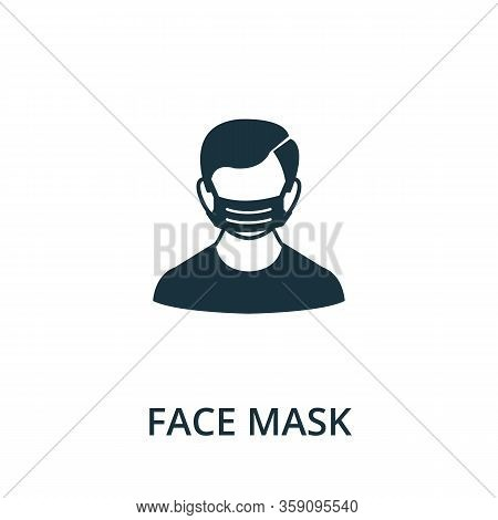 Face Mask Icon. Simple Illustration From Coronavirus Collection. Creative Face Mask Icon For Web Des