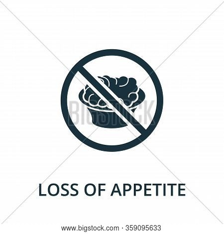 Loss Of Appetite Icon. Simple Illustration From Coronavirus Collection. Creative Loss Of Appetite Ic