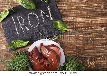 Liver And Greens As A Necessity For Human Health, Sources Of Iron, Vital Foods. Cooking Liver. Liver