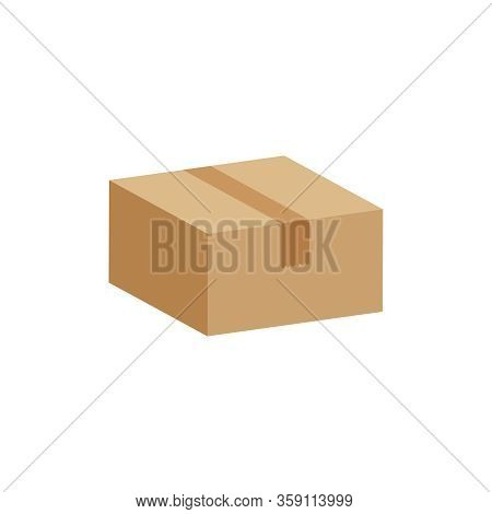 Crate Boxes 3d, Cardboard Box Brown, Flat Style Cardboard Parcel Boxes, Packaging Cargo, Isometric B