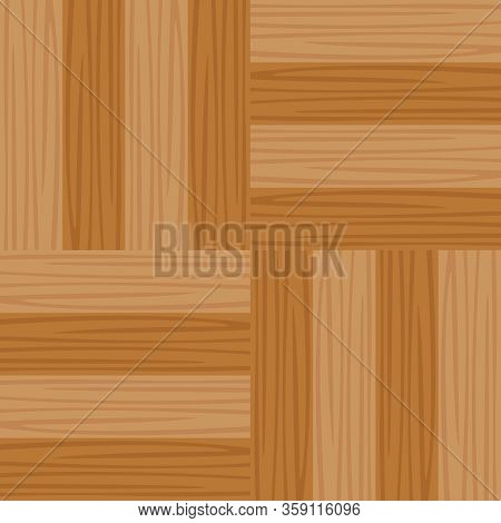 Square Parquet Wooden Flooring In Top View, Illustration Seamless Parquet Texture For Decorating Roo