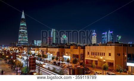 Saudi Arabia, Riyadh / Ksa - Dec 01 2018: Riyadh, Saudi Arabia Famous Street, Al_tahlia Street, Al_f