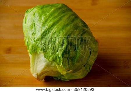 Green Iceberg Lettuce. Cabbage Iceberg. Greens, Vegetarianism, Cabbage, Vegetable