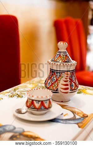 Romania, Bucuresti, 22 February 2020 Pouring The Best And Tasty Tea In Italian Restaurant