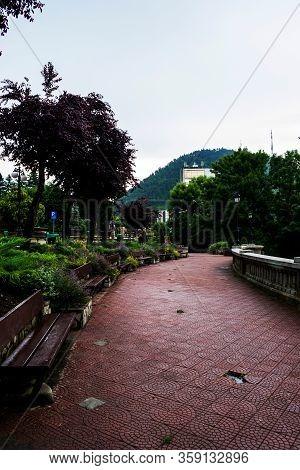 The Alley In The Royal Court Garden, Piatra Neamt, Romania.