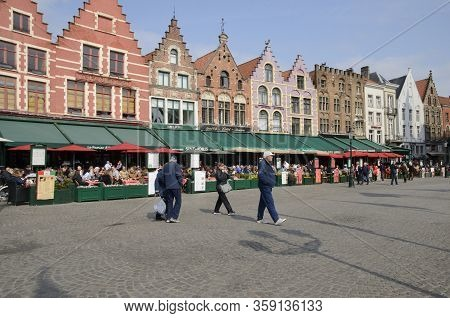 Cafes On Brugge Market Square