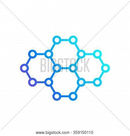 Graphene, Carbon Nano Structure Vector Icon, Eps 10 File, Easy To Edit