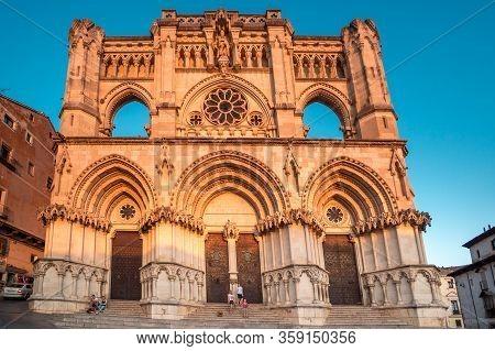Cuenca, Spain 11 October , 2017. Cathedral Of Cuenca In Castille La Mancha, Spain