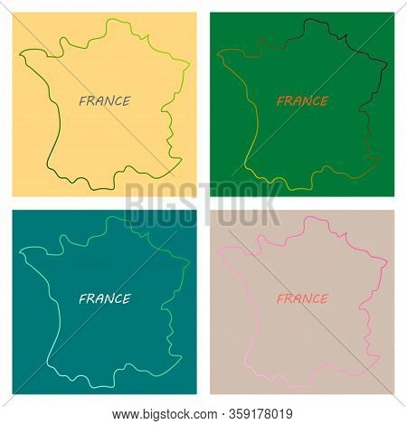 Map Of France With Flag. Isolated 3d Isometric Country Concept For Infographic.