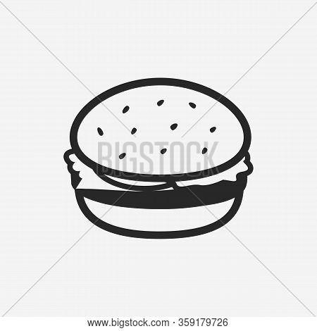 Burger, Hamburger, Cheeseburger Icon. Burger Vintage Design Element For Restaurant Menu, Logo, Poste