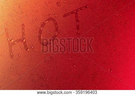 Hot Symbol In Neon Light Background Drops Copy Space Lush Lava Trend 2020 Color