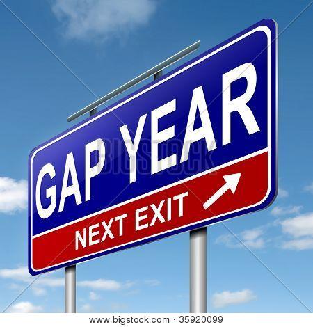 Gap Year Concept.