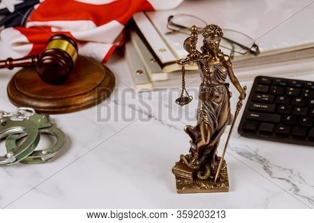 Legal Law, Advice Judge Gavel With Statue Of Justice With Scales Justice Lawyer Consultation Law Jus