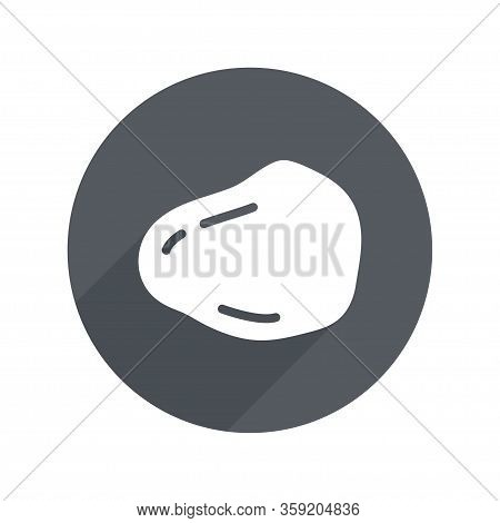 Stone Circle Icon Flat With Long Shadow. Geology, Archeology, Geography, Gemology. Vector Illustrati