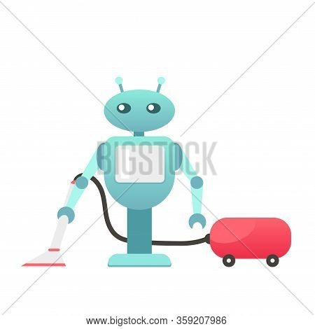 Robo Cleaner, Adviser And Helper, Help Disabled People, Cleaning Robot, Housework, Mechanic Robot, P