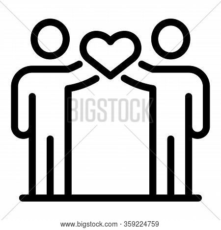 Heart No Racism Unity Icon. Outline Heart No Racism Unity Vector Icon For Web Design Isolated On Whi