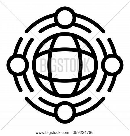 Global Family Unity Icon. Outline Global Family Unity Vector Icon For Web Design Isolated On White B