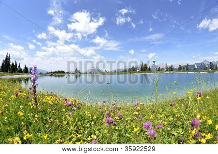 Lake on the Alps