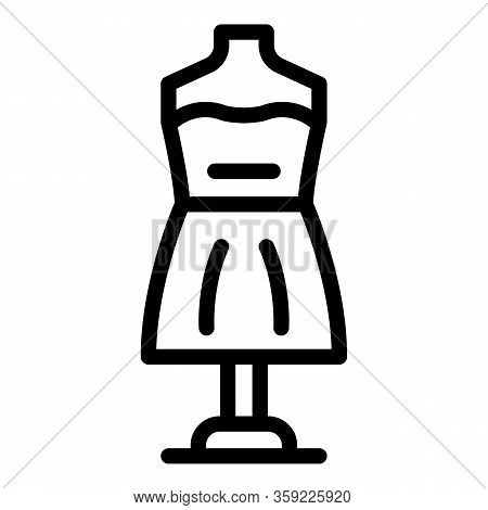 Theater Mannequin Icon. Outline Theater Mannequin Vector Icon For Web Design Isolated On White Backg