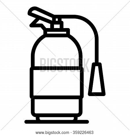 Accident Fire Extinguisher Icon. Outline Accident Fire Extinguisher Vector Icon For Web Design Isola