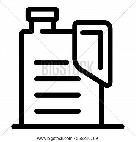 Flammable Canister Icon. Outline Flammable Canister Vector Icon For Web Design Isolated On White Bac