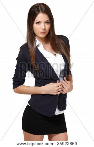 Portrait Of A Sexy Business Woman