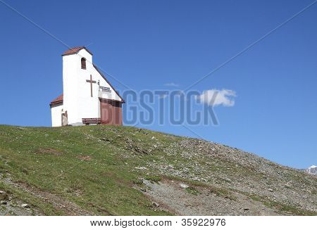 Chapel on high mountain