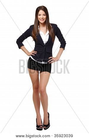 Businesswoman Posing To The Camera