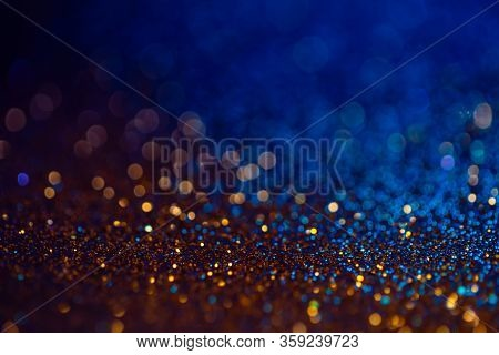 Decoration Bokeh Lights Background, Abstract Sparkle Backdrop With Circles, Modern Design Overlay Wi
