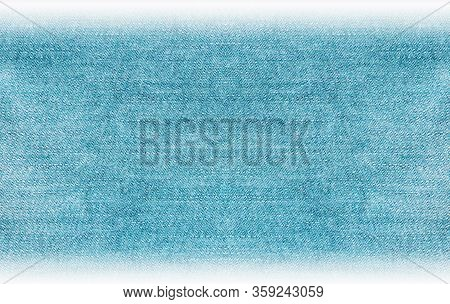 Denim Jeans Abstract Texture Background, Gradient Abstractive Simple Light Blue Fabric Surface. Empt