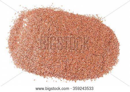 Heap Linseed. Heap Of Organic Flax Seeds
