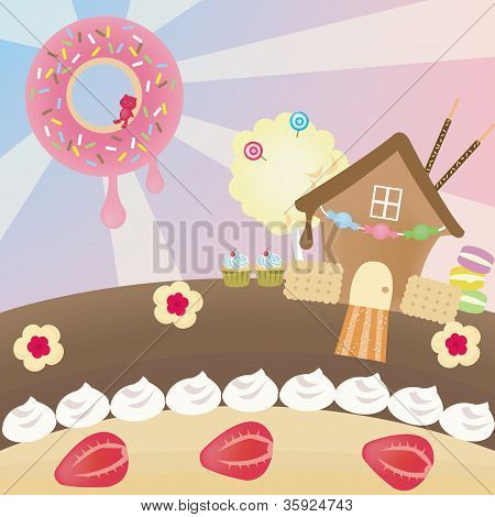 Candy Landscape (vector)