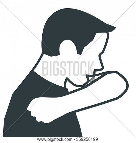 Sneeze and Cough in your bent elbow to prevent spread of respiratory illneses