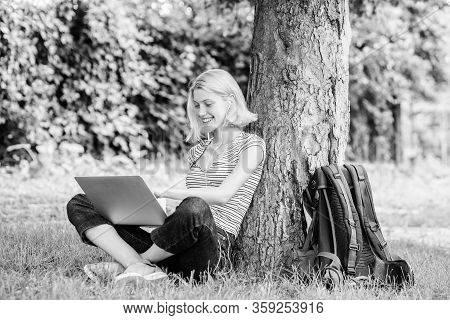 Reasons Why You Should Take Your Work Outside. Lunch Time Relax Or Coffee Break. Nature Is Essential