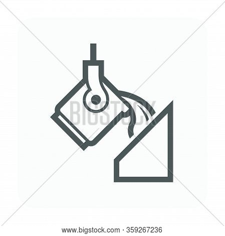 Steel And Metal Casting Vector Icon Design On White Background.