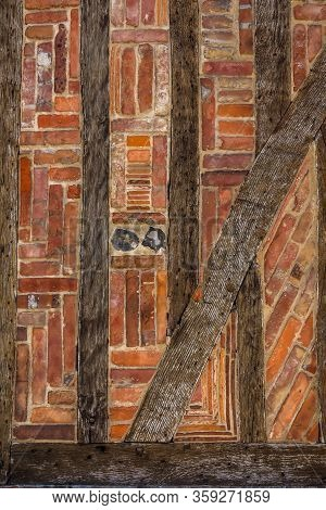 Half-timbered Wall Of The Ancient House. France